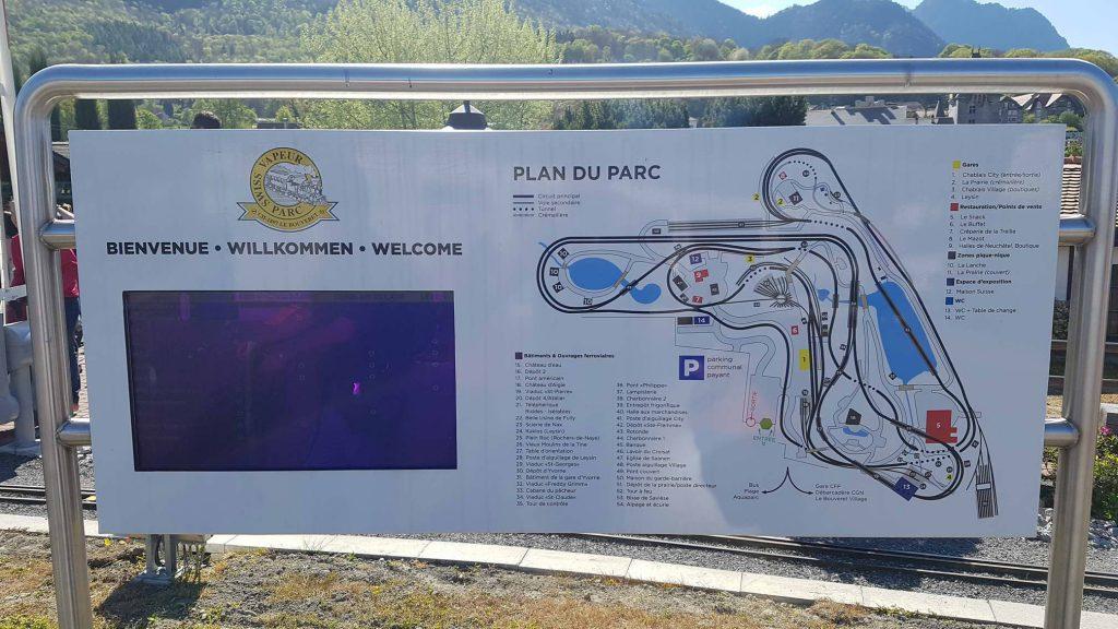 Plan du Swiss Vapeur Parc