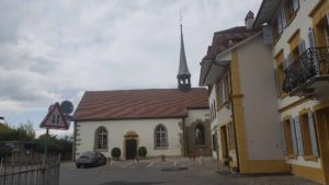 l'église française dans la vieille ville de Morat
