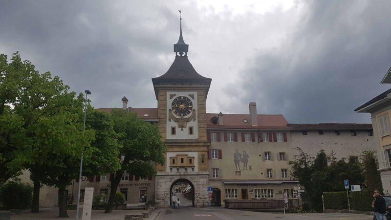 L'entrée de la vielle ville .de Morat