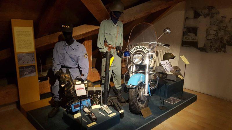 le musée de la gendarmerie vaudoise, l'un des 4 musées militaires de Morges