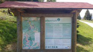 panneau d'information à l'Arboretum d'Aubonne