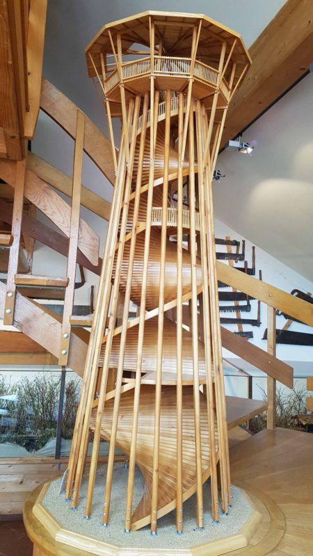 La tour de sauvabelin présentée au musée du bois