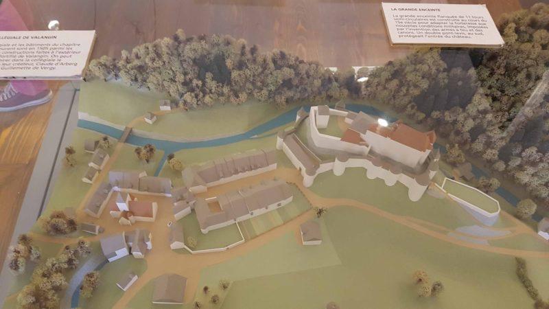 maquette du chateau de Valangin