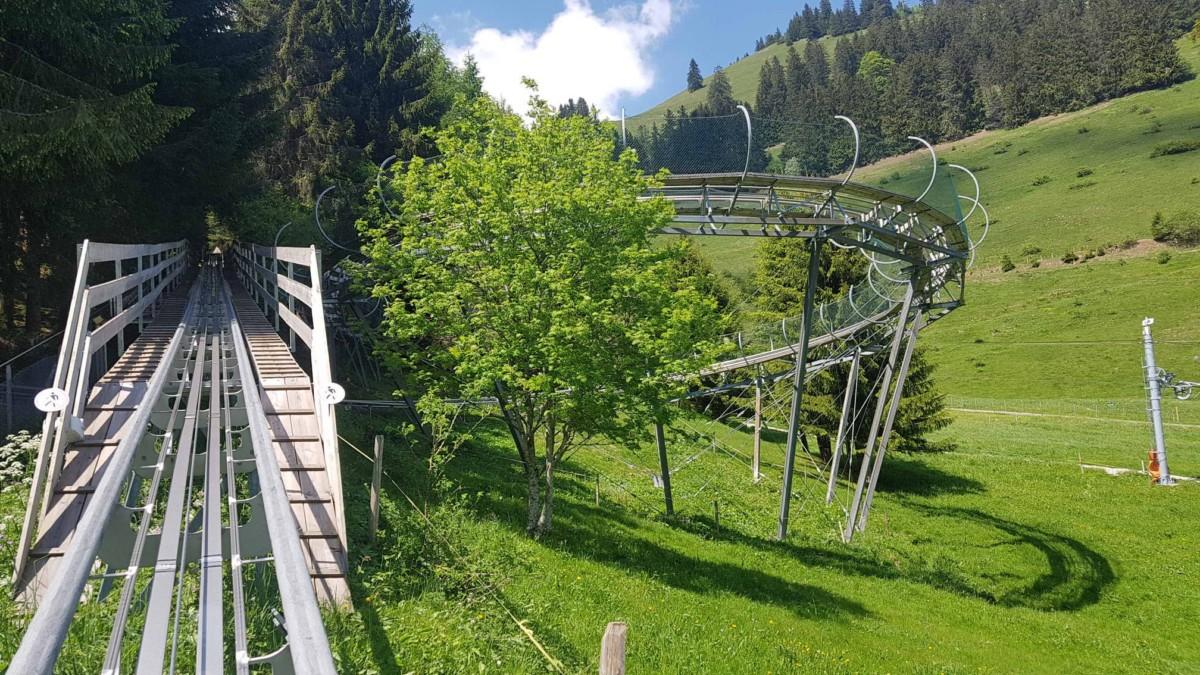 La piste de luge du Moléson qui est une des pistes de luge de Suisse Romande