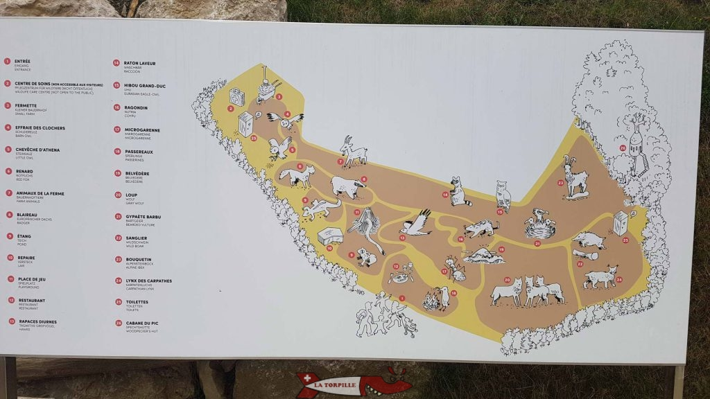 Map of the Garenne Zoo.