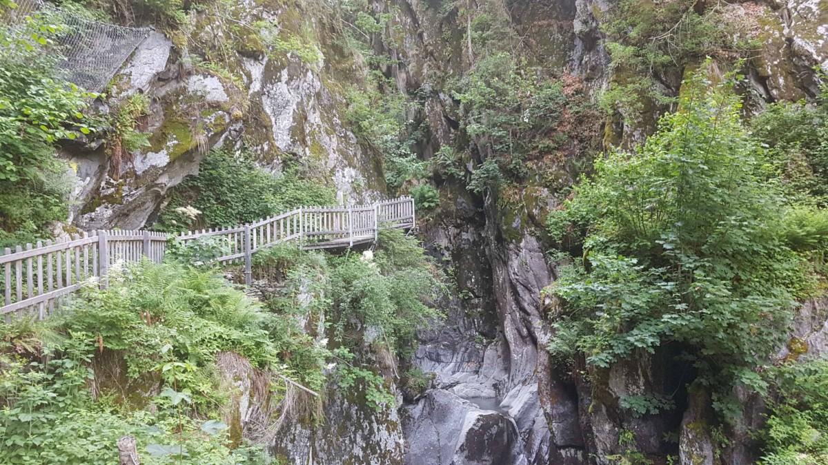 Les gorges du Triège font partie des plus belles gorges de Suisse Romande