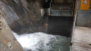 Prise d'eau des CFF au sommet du sentier des gorges du Triège