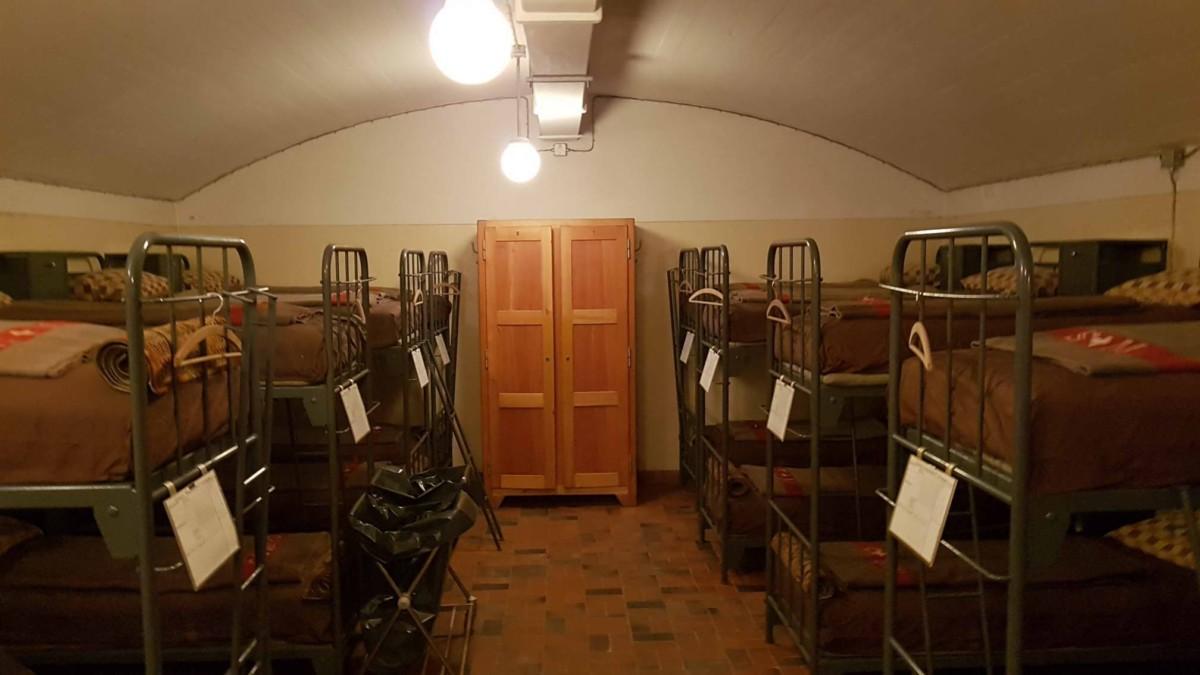 Les dortoirs du fort Cindey.