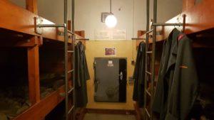 Les dortoirs dans le campement de la troupe du fort cindey