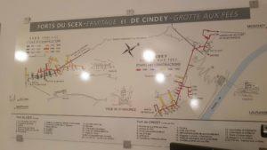 Le topologie du fort Cindey avec également celui du Scex qui est accessible au niveau du lac de la Grotte aux Fées.