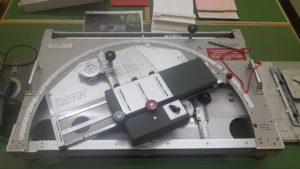 les outils pour procéder aux calculs des coordonnées pour les tirs d'artillerie au fort cindey