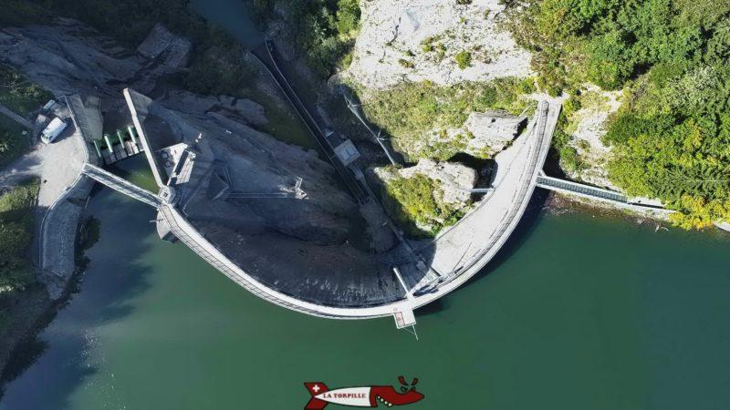 The Montsalvens dam in Switzerland seen by air