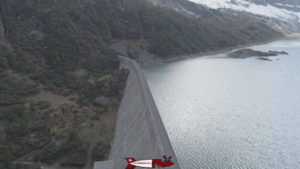 The Salanfe dam of gravity-type