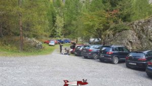The car park to go to the Salanfe dam