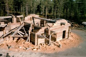 Construction of the marecottes zoo and pool restaurant in Lapland
