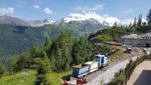 Verticalp proche de la gare du Châtelard-Frontière du train mont-blanc express