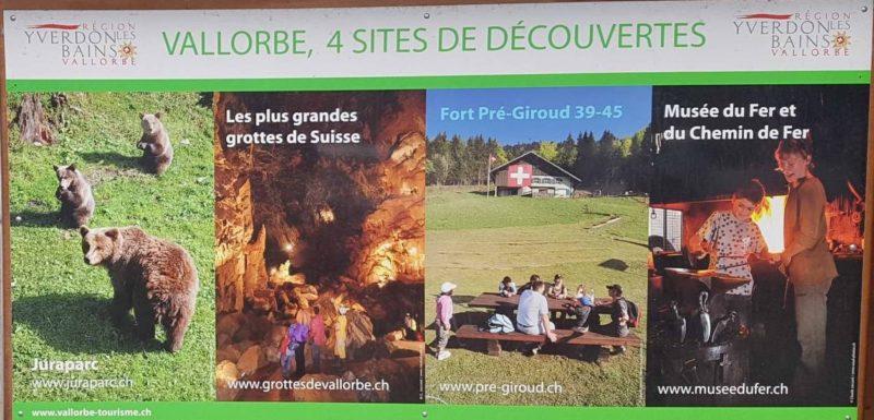vallorbe 4 sites découvertes
