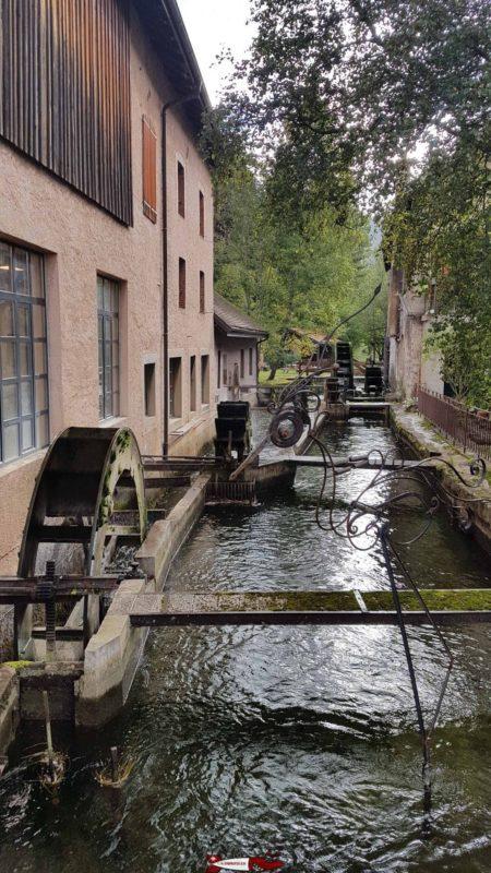 Roues à Aubes au musée du fer et du chemin de fer à Vallorbe