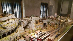 Maquette de train miniature au musée du fer et du chemin de fer à Vallorbe