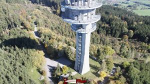L'antenne du Mont-Gibloux depuis un drone