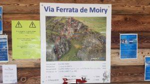 Panneau indactif sur la Via Ferrata de Moiry affiché au barrage de Moiry