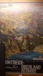 affiche publicitaire sur le train montreux oberland bernois