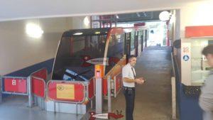 La gare de départ du funiculaire Sierre-Crans-Montana