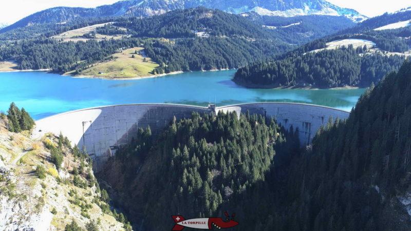 La double voûte du barrage.