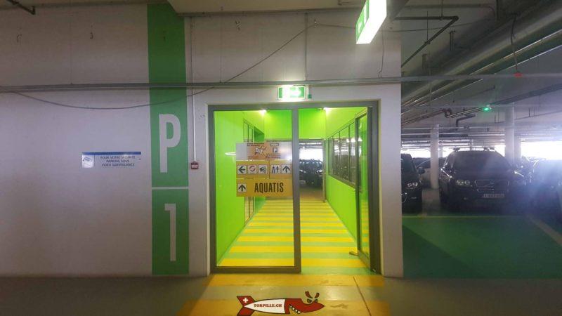 Le parking d'Aquatis