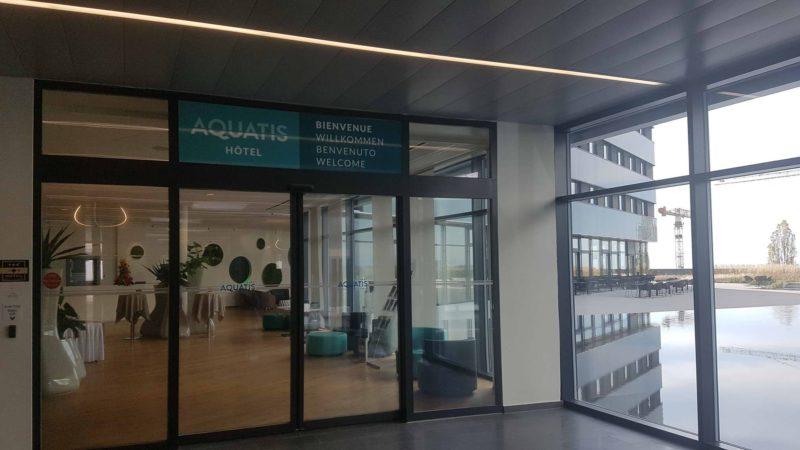 L'entrée de l'Hotel Aquatis