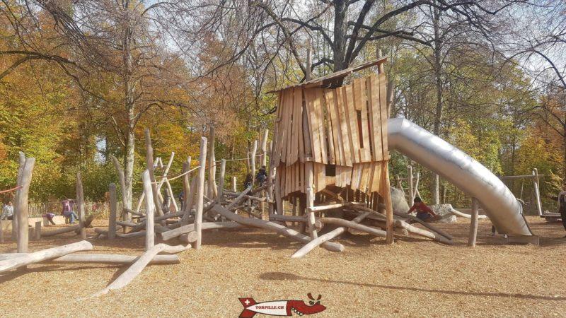 la nouvelle place de jeux du parc de Sauvabelin