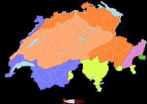Les bassins versant en Suisse - barrage de l'hongrin