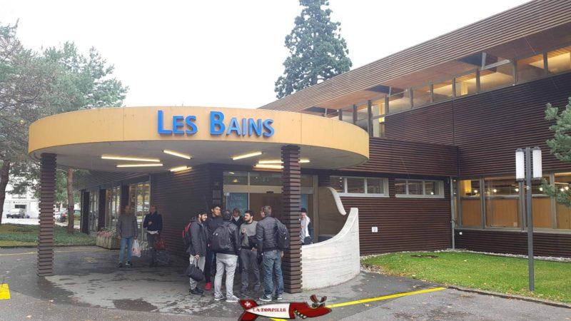 L'entrée des Bains thermaux de Lavey