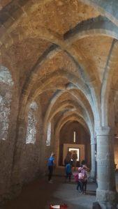 Le sous-sol du château de Chillon où fut attaché François Bonivard.