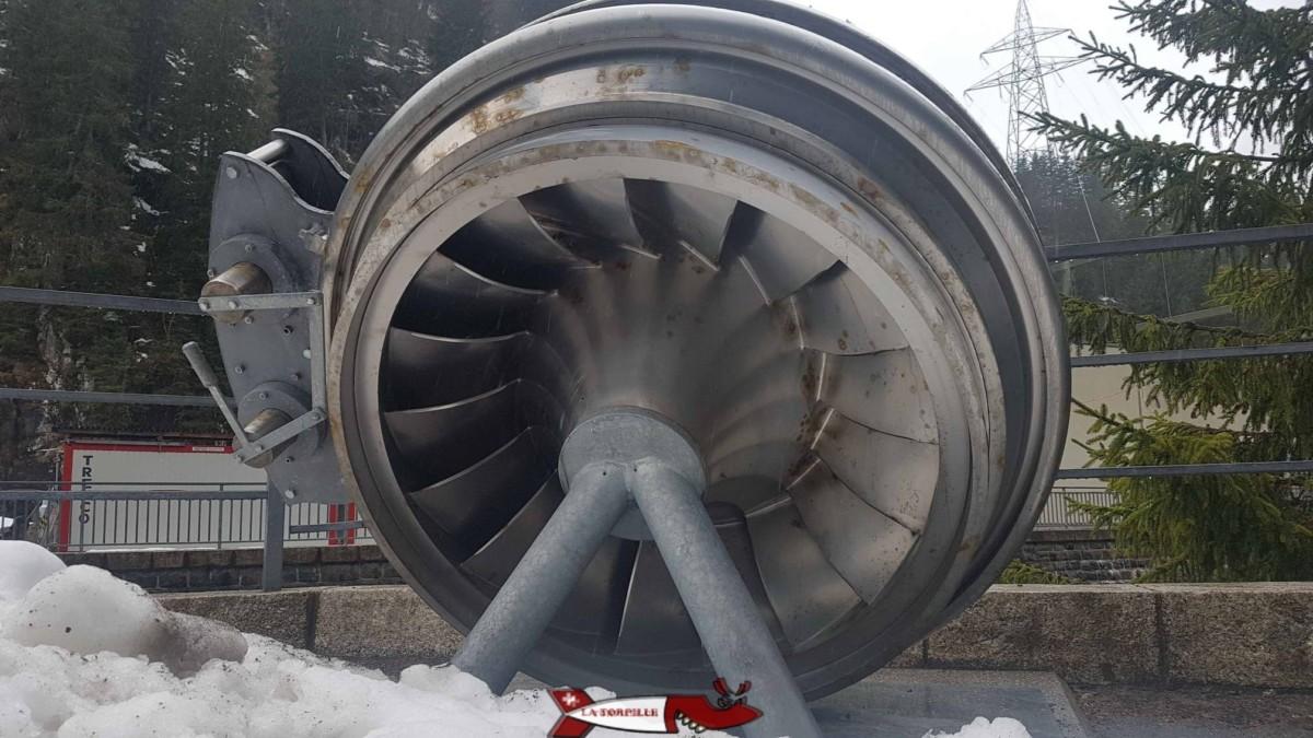 Turbine Francis en position oblique à l'usine de Fionnay