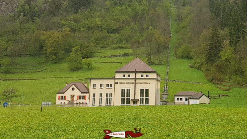 L'usine de Champsec dans le complexe hydroélectrique du barrage de mauvoisin
