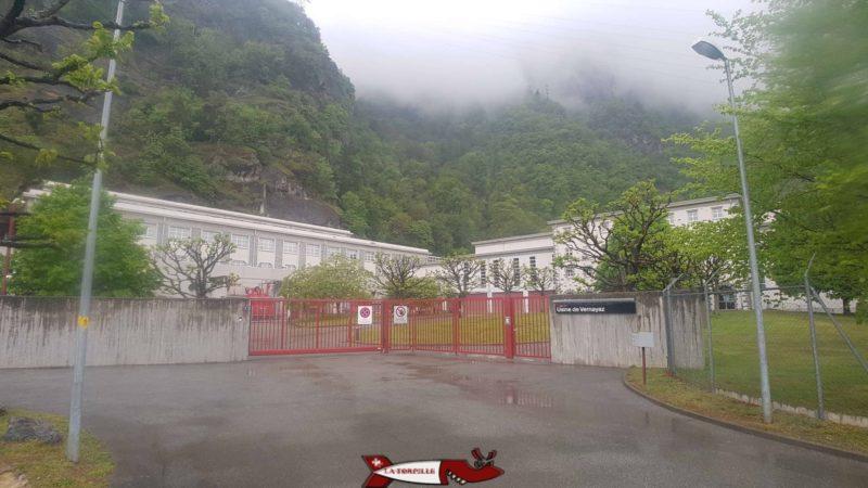 L'usine CFF de Vernayaz dans le complexe hydroélectrique du barrage d'Emosson