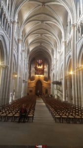 Le magnifique plafond vouté de la cathédrale de Lausanne