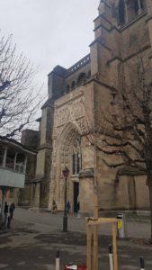 Le portal d'entrée de la cathédrale de Lausanne
