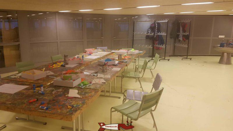 L'étage inférieur propose à chaque exposition un sympathique atelier de bricolage - espace des inventions