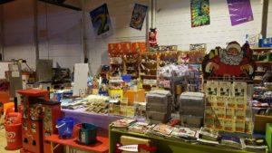 Cafeteria avec snacks et boissons à l'espace junior Aigle