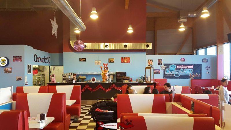 Le restaurant Diner's 66 du fun planet rennaz