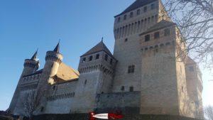 Vue côté Nord du château de Vufflens