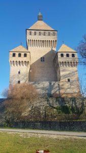 Vue côté Ouest du château de Vufflens