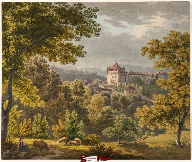 Le château probablement au début du 19e siècle