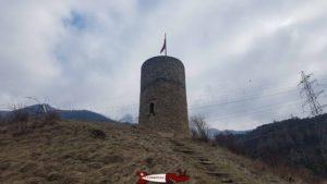 Le donjon du château de Saxon