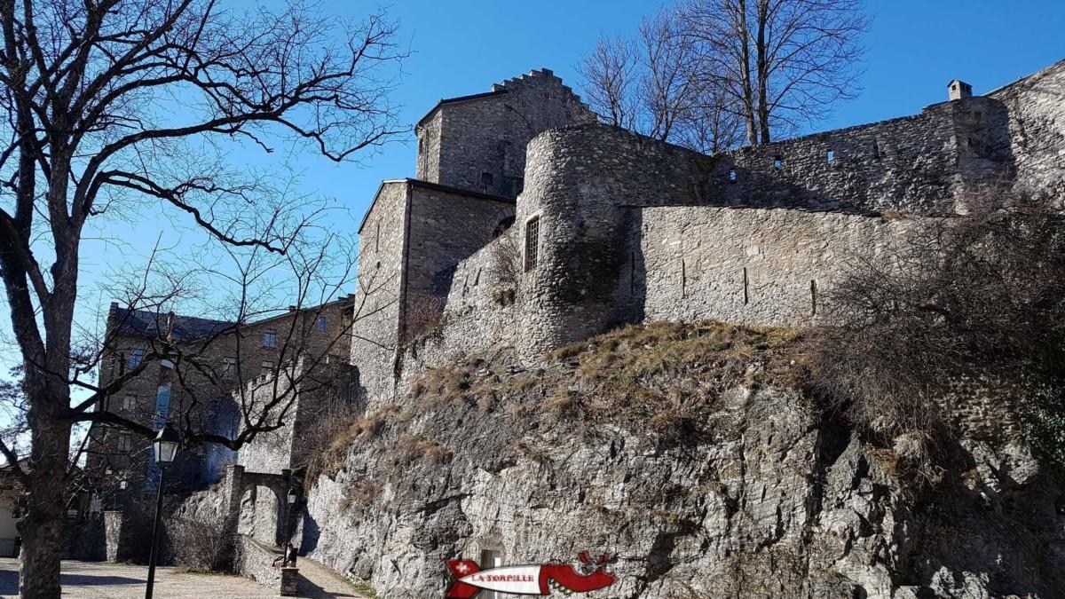 Le château de la Majorie dans la ville de Sion.