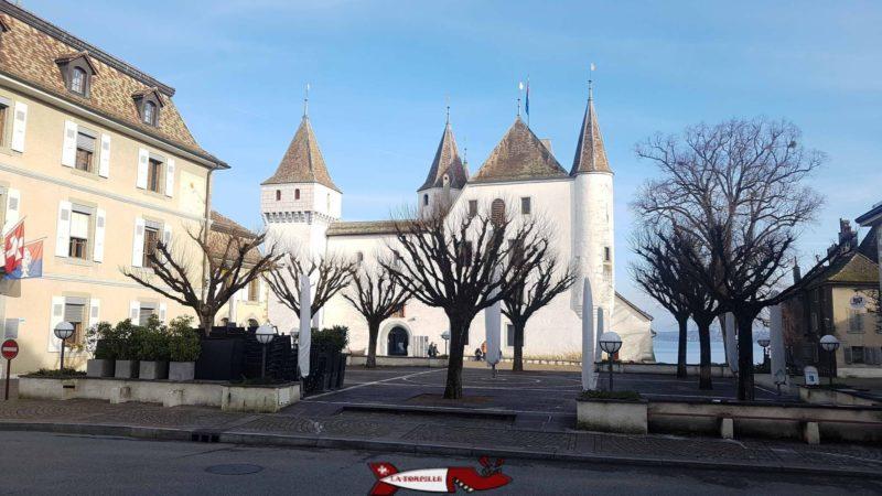 The château de Nyon depuis le Nord-Ouest.