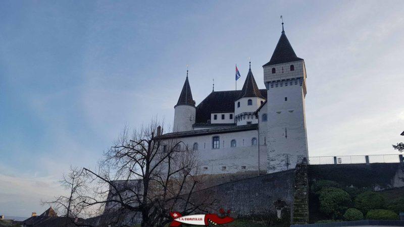 Le château de Nyon et la tour carrée du Bailli.