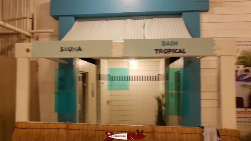 l'espace sauna/hammam de la zone parardis d'aquaparc